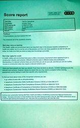 CITB Test Pass