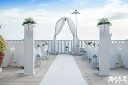 The ceremony area