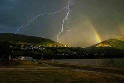 strike and a rainbow?