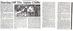 1981 Staving off the Alpine Chills