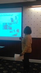 Marcia Reid presenting