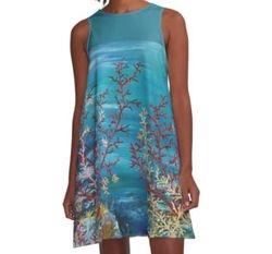 Ventagli viventi A-Line dress