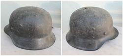 Vokiskas I PK salmas M16. German helmet M16. Naudotas Lietuvoje. Kaina 83