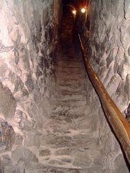 De trap naar het dak van de kerk 2007