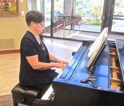 Nancy Lamb Playing Piano