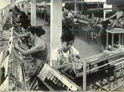 View of Assembly Line for Curtis Mathes Television Chassis