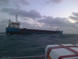 Cargo Vessel 'Tiageta' out of fuel and dragging anchor