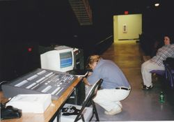 Bruce Adjusting Sound