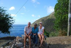 With Annette at a viewing point on the coast road