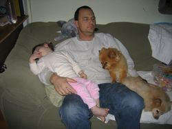 Mike sleeping with the gang