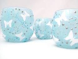 Pale Blue and White Butterflies