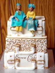 Traditional Suitcase Wedding Cake3 (W005)