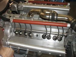 side view - two plugs per cylinder