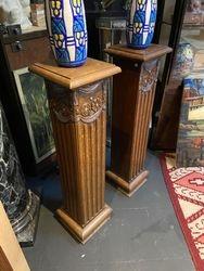 Paire de colonnes art deco Belge