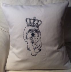 Maltese Princess Pillow