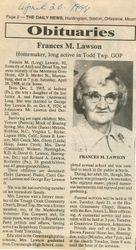 Lawson, Francis M. Long 1998