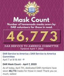 April 7th, 2020 - 46,773 Masks Made