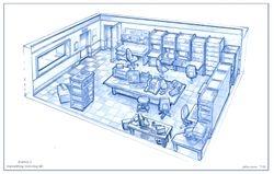 Lab interior rough
