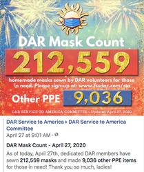 April 27th - 212,559 Masks Made