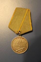 Medalis Uz karinius nuopelnus. Sidabrinis. Kaina 42