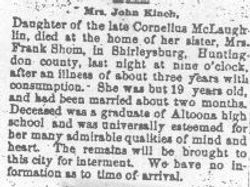 Kinch, Mrs. John - Part 1 - 1890