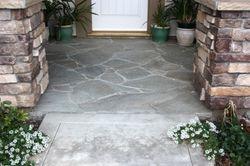 Flagstone entry way