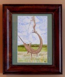 Swordfish Sculpure, Martha's Vineyard,9x6 $125