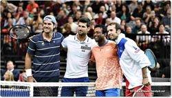 Tommy Haas, Novak Djokovic, Leander Paes, Radek Stepanek