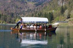 Boat on Lake Bled, Slovenia