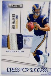 SAM BRADFORD ROOKIE DRESS FOR SUCCESS 3+ PRIME PATCH ROOKIE #08/50