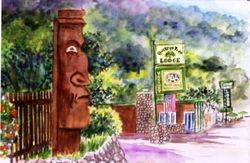 Buckeye Tree Lodge Entrance, Three Rivers