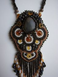 close up of the River  Stone Necklace