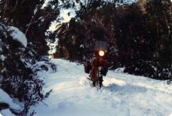 1980 Alpine Rally @ Perkins Flat - Glenn XL500 - just before the Brindabella Plains 1980-81
