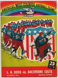 1947 L.A. Dons vs. Baltimore Colts