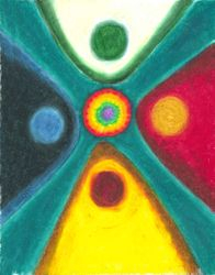 Interconnected Elements of Life, Oil Pastel, 11x14, Original Sold