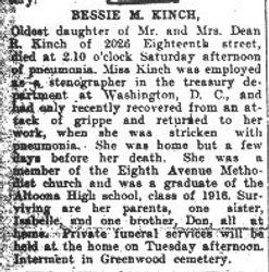 Kinch, Bessie 1918