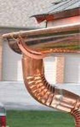 Copper half round gutter