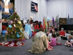 The children recieve their Christmas present
