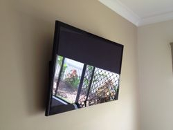 Wall mount fitted in a beautiful new house