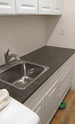 Replaced counter top