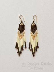 Traditional Comanche Style Earring with Red Bay Labrador Quills