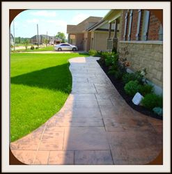 Designed Walkway to Porch