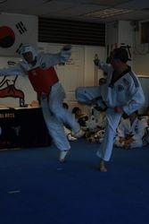 Sparring on Belt Test