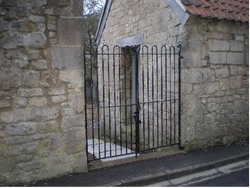 Recently restored Victorian iron gates