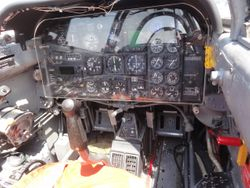cockpit of one of the fighter trainer planes