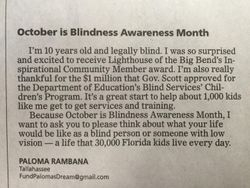 Blindness Awareness Month