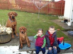 Elvis & Fonzie with Lyla & Charlie