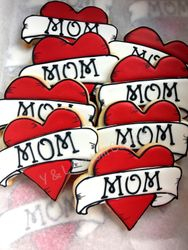Baby Shower Custom Cookies Mom Tattoo Theme