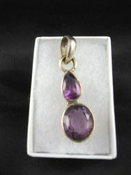 09-00111 Amethyst Sterling Silver Pendant