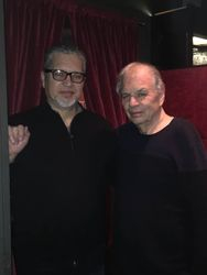 With Ralph Towner, New York, 2018.
